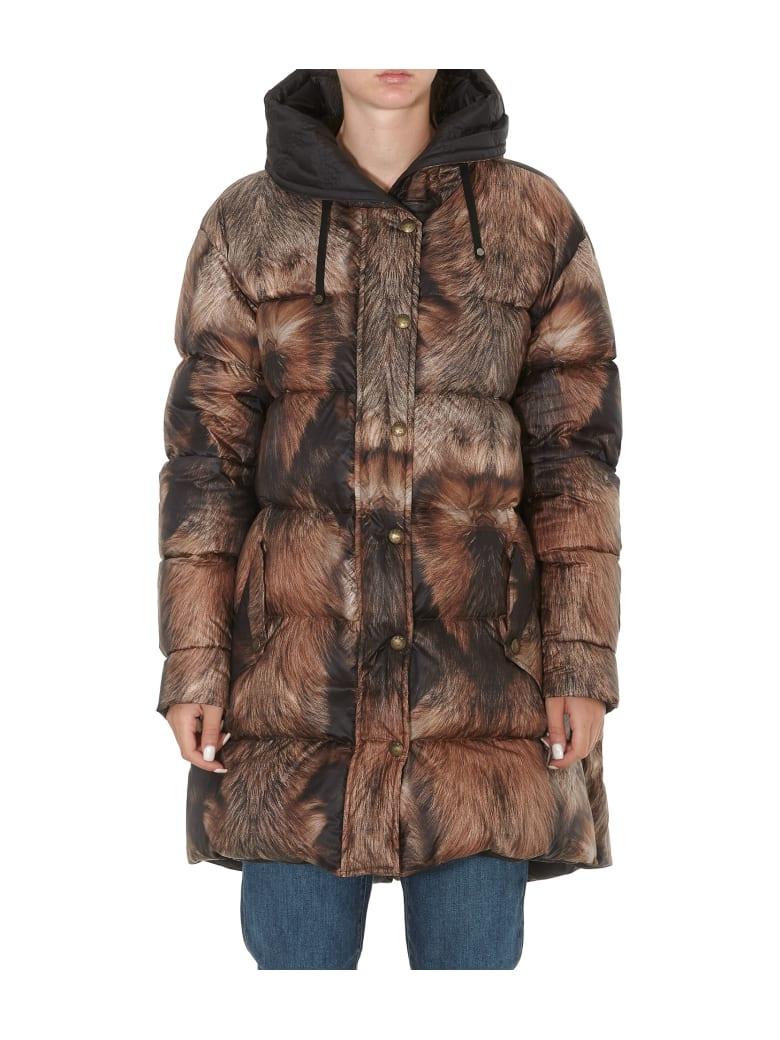 Mr & Mrs Italy Fur Print Down Jacket - Brown