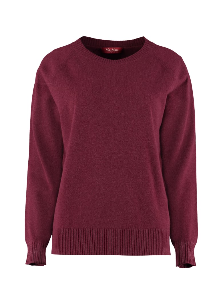 Max Mara Studio Alacre Wool And Cashmere Sweater - Burgundy