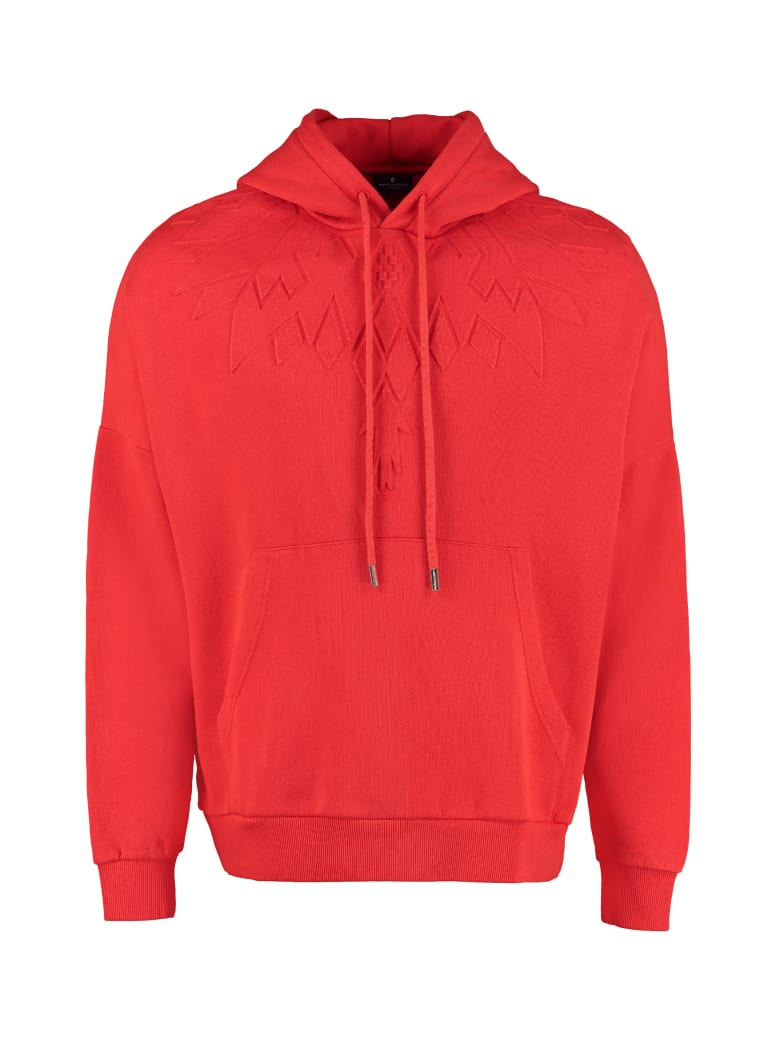 Marcelo Burlon Oversize Cotton Hoodie - Red