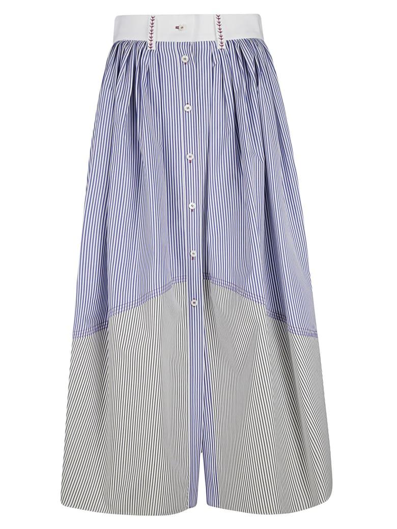 Chloé Stripe Print Skirt - Blue/White