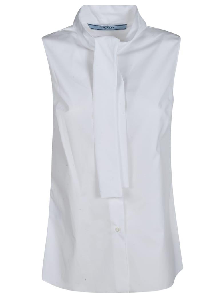 Prada Sleeveless Flared Shirt - White