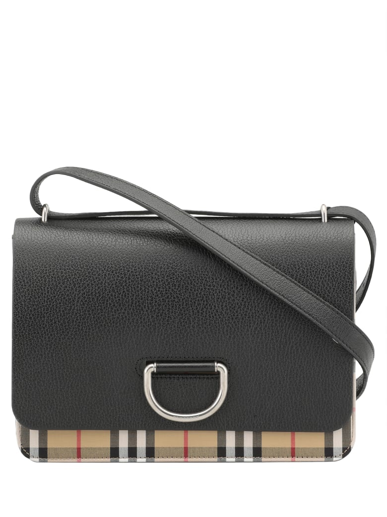 Burberry Medium D-ring Bag - BLACK / BLACK