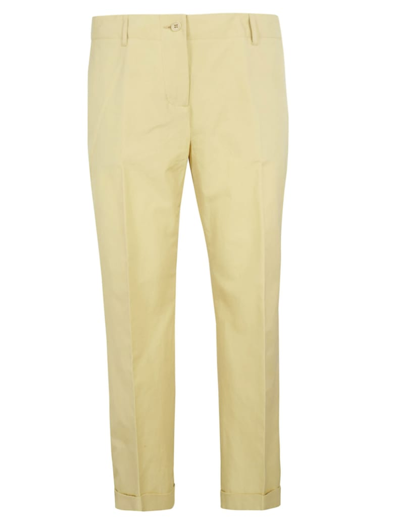 Aspesi Cropped Trousers - Yellow