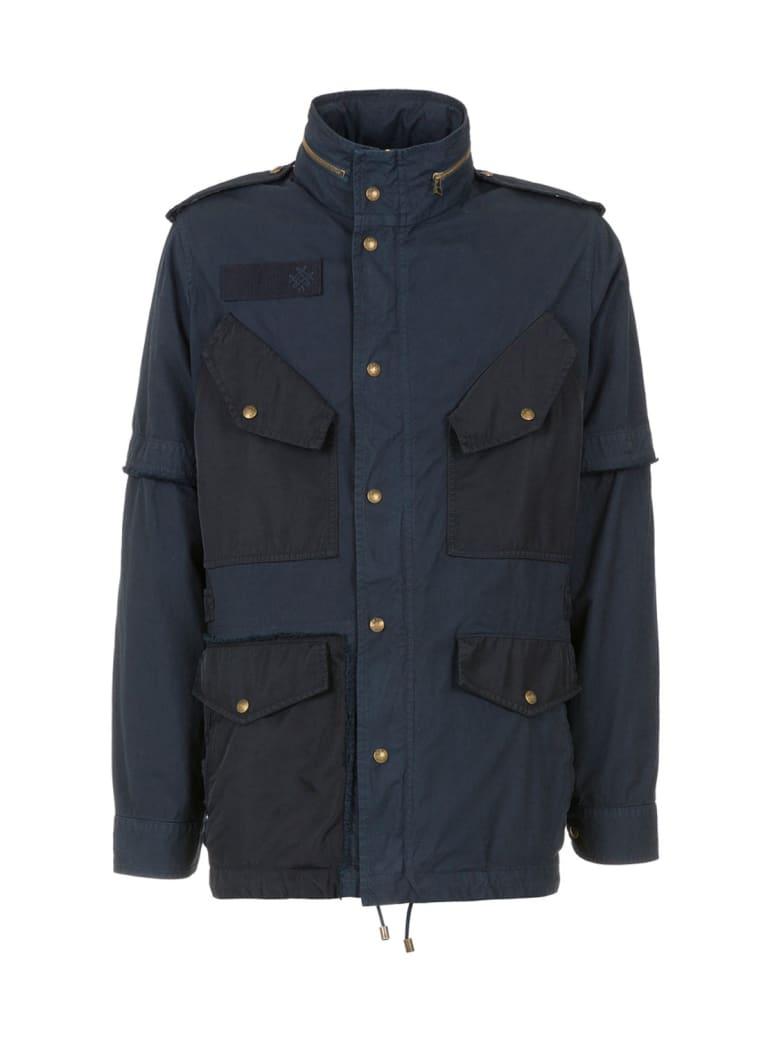 Mr & Mrs Italy Nick Wooster Capsule Unisex Field Jacket - NIGHT BLUE / BLUE