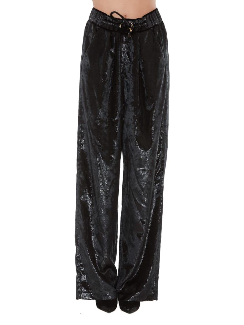 Balmain Shiny Effect Trousers - Black