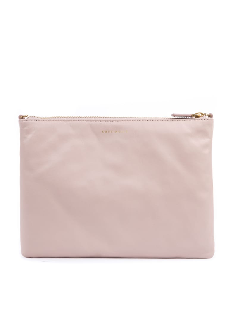 Coccinelle Soft Pink Lather Clutch - Soft pink
