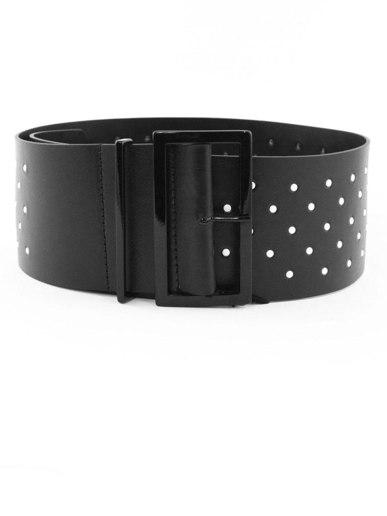 Philosophy di Lorenzo Serafini Black Leather Belt - Nero