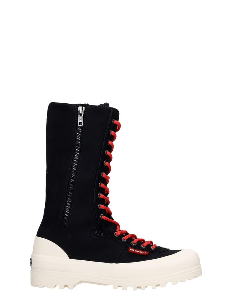 Superga Warmcotton Sneakers In Black Canvas - black