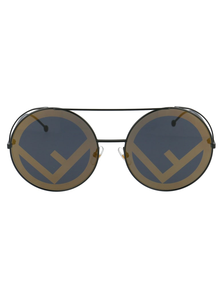 Fendi Ff 0285/s Sunglasses - 8077Y BLACK