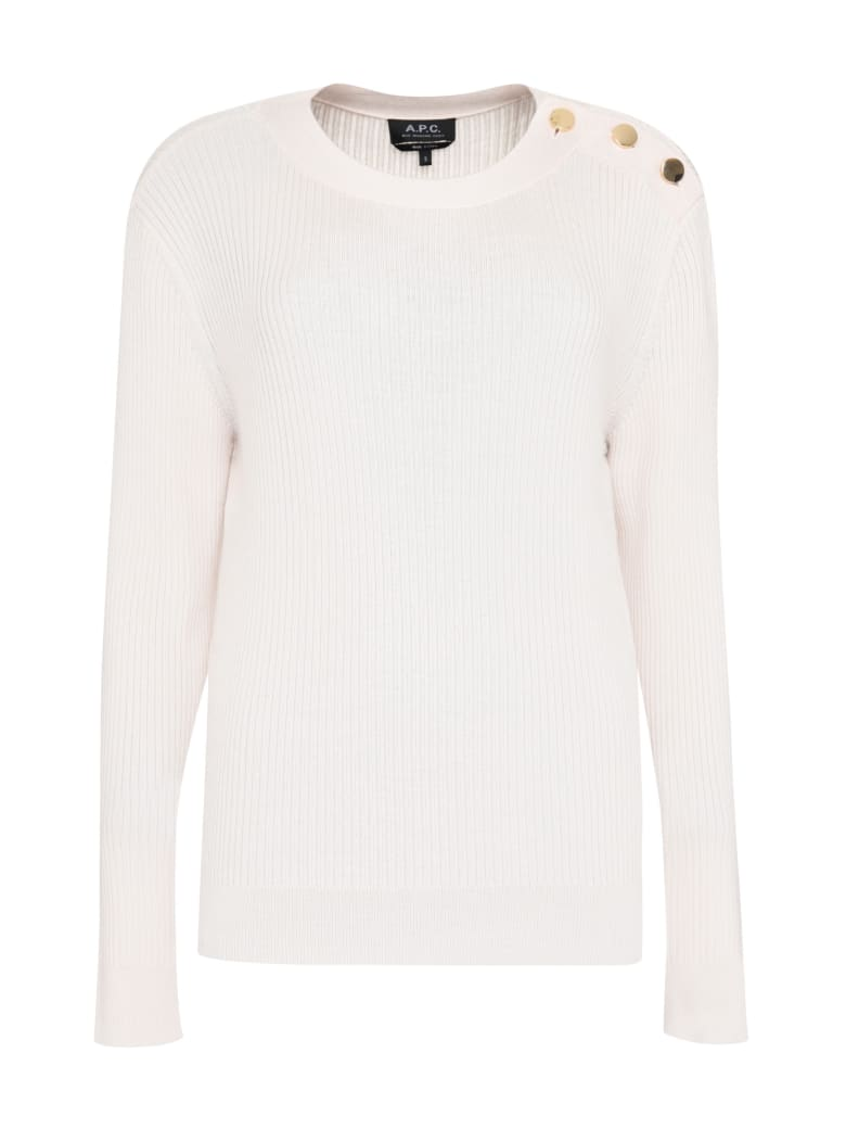 A.P.C. Paola Ribbed Pullover - Pink