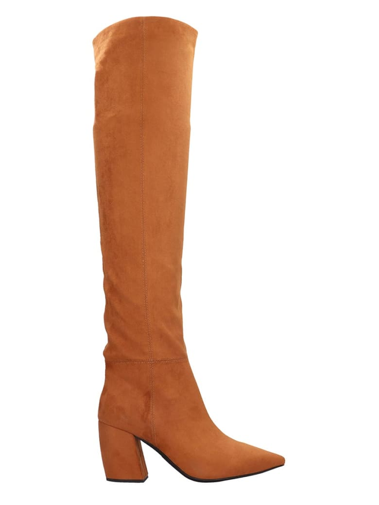 Jeffrey Campbell Final Slch Boots In Leather Color Suede - leather color