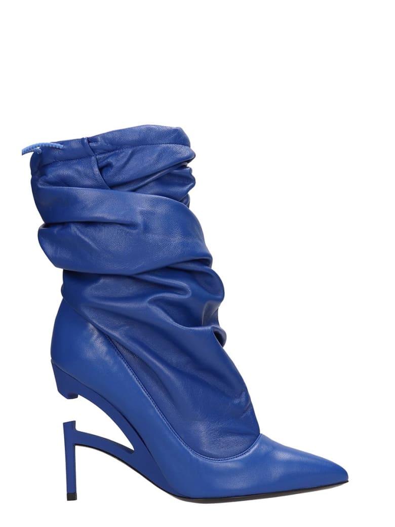 Ben Taverniti Unravel Project Wrapped Pump Ankle Boots - blue