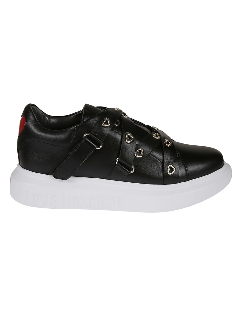 Love Moschino Strapped Sneakers - Black