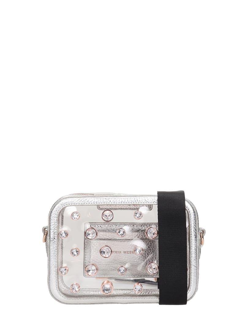 Sophia Webster Dina Shoulder Bag In Silver Leather - silver