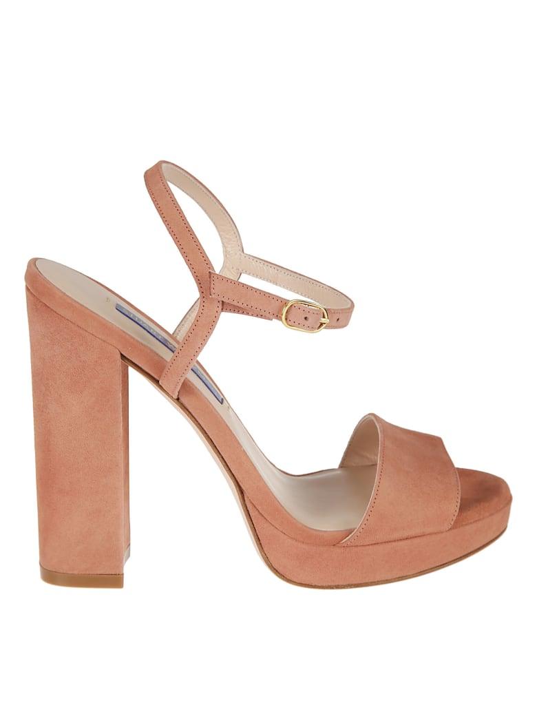 Stuart Weitzman Sunray Platform Sandals - Desert rose