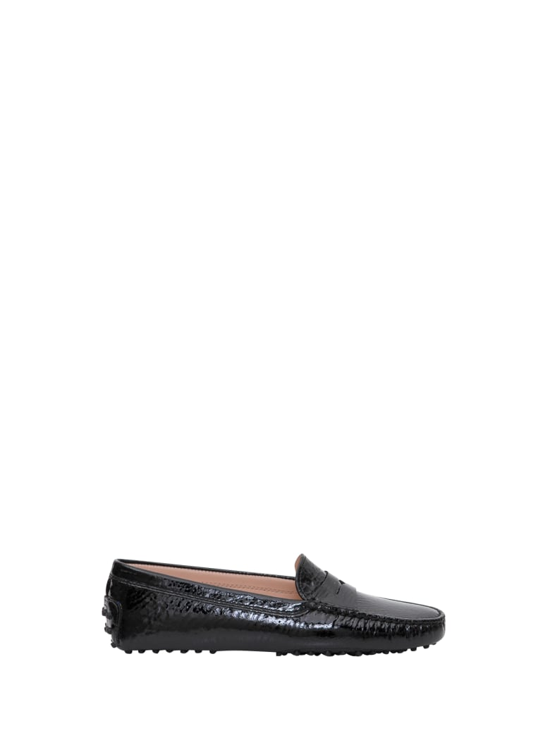 Tod's Gommino Patent Letaher Driving Shoes - Nero