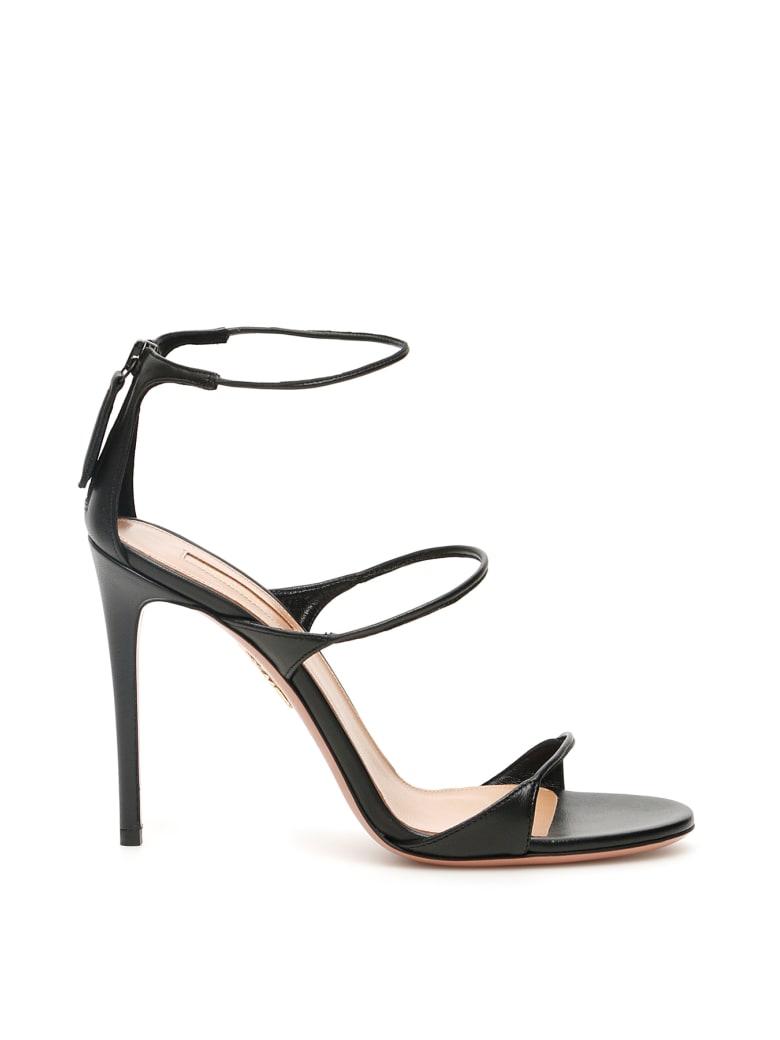 Aquazzura Minute 105 Sandals - BLACK (Black)