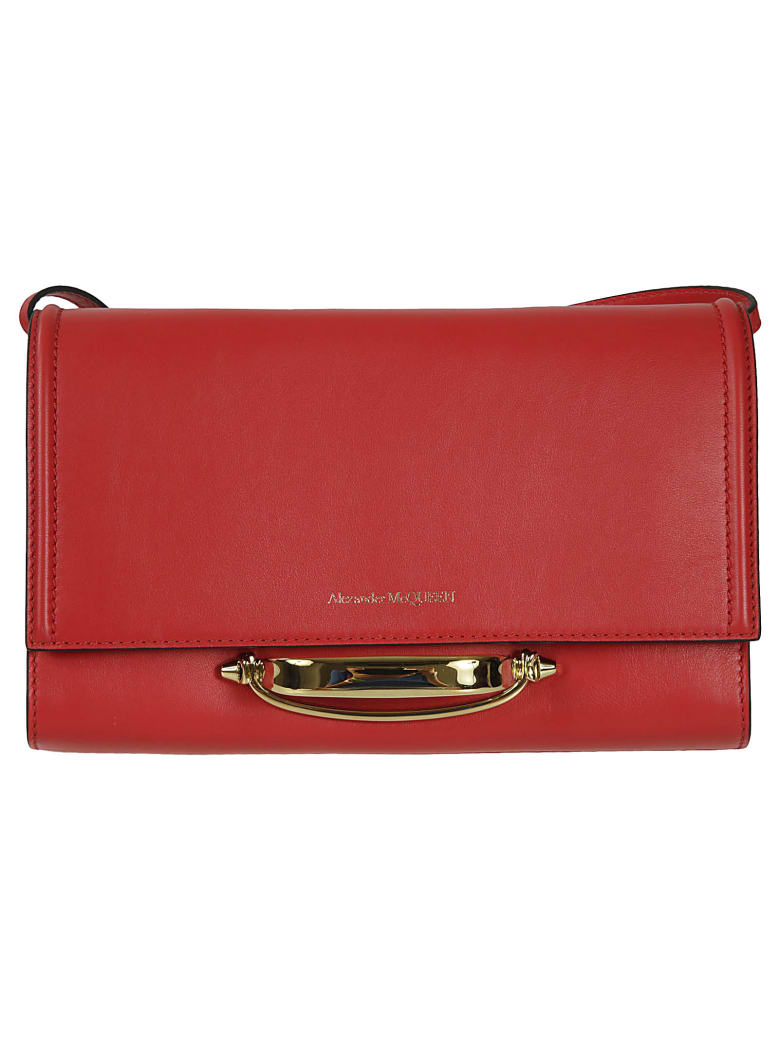 Alexander McQueen The Story Clutch - Rosso