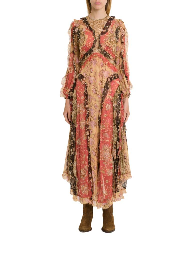 Zimmermann Veneto Flounce Long Dress - Multicolor