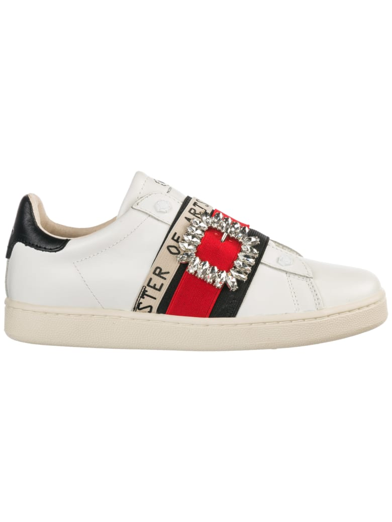 M.O.A. master of arts  Shoes Leather Trainers Sneakers - Bianco