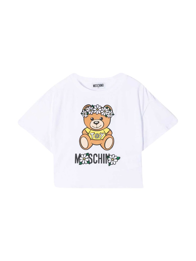 Moschino White T-shirt With Toy Print - Bianco