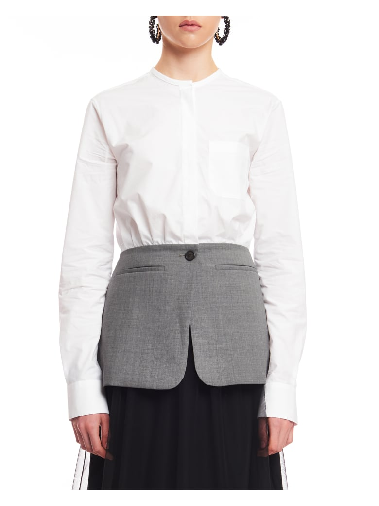 Coperni Hybrid Shirt - Optic White