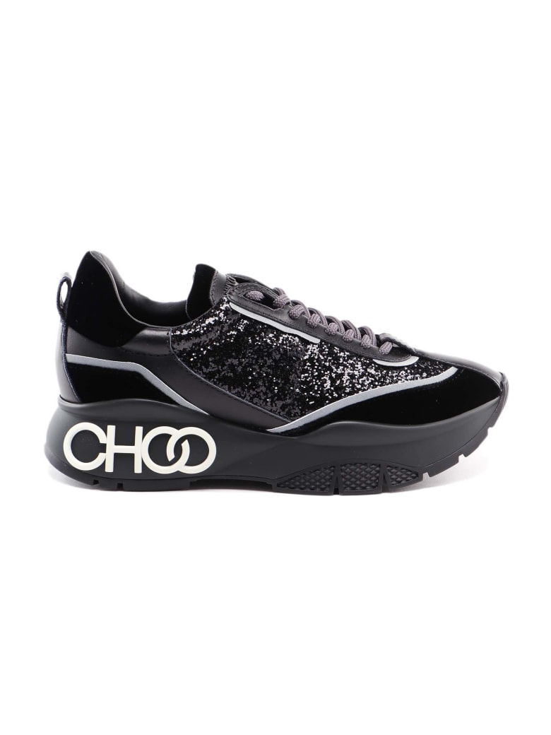 Jimmy Choo Velvet Galactic Sneaker - Black Mix