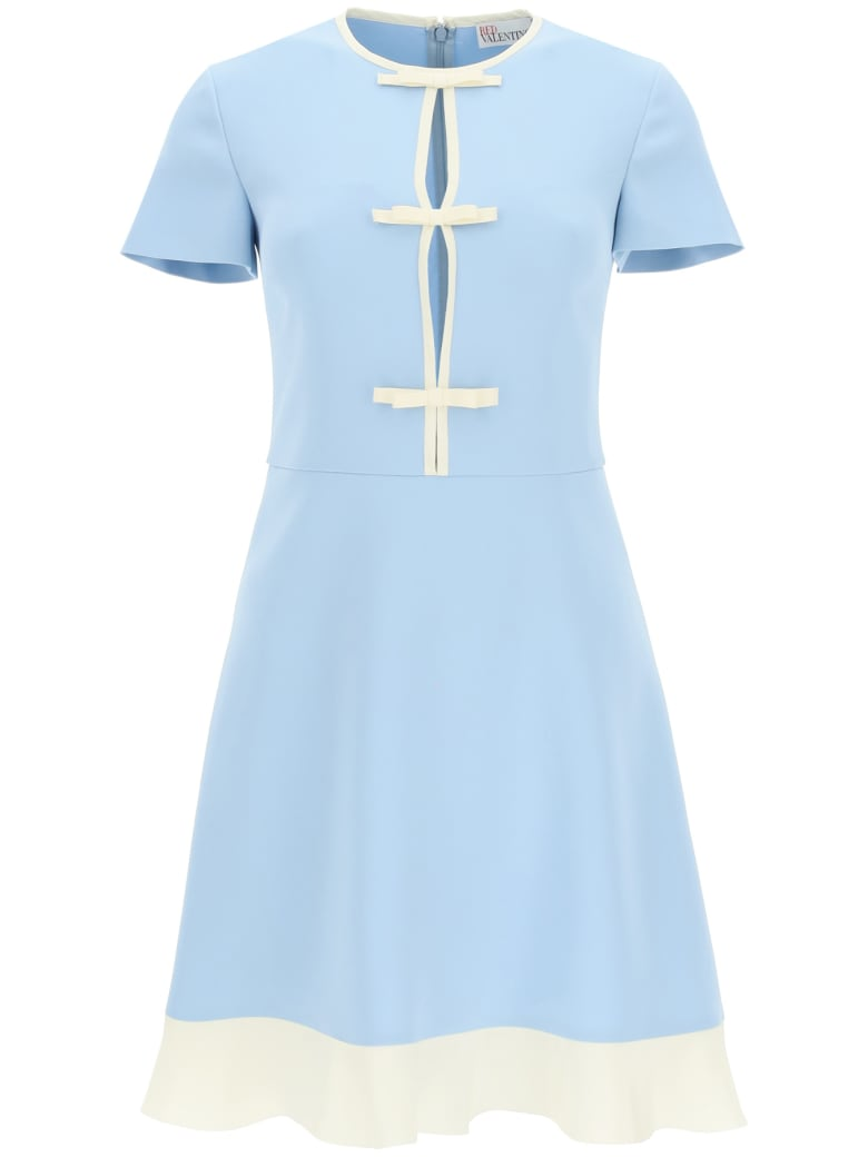 RED Valentino Mini Dress With Bows - BLUE