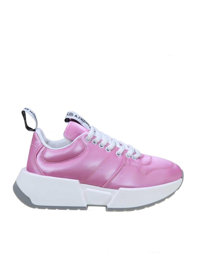 MM6 Maison Margiela Leather Sneakers Fucsia Color - Fuchsia