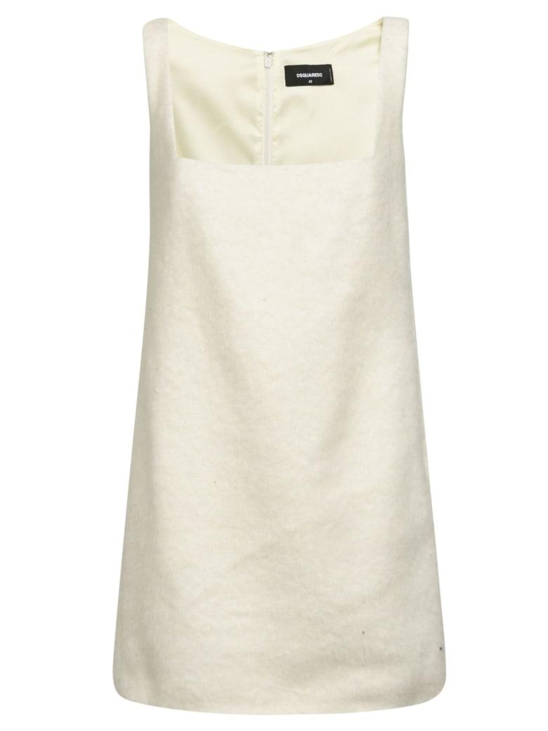 Dsquared2 Sleeveless Short Dress - White