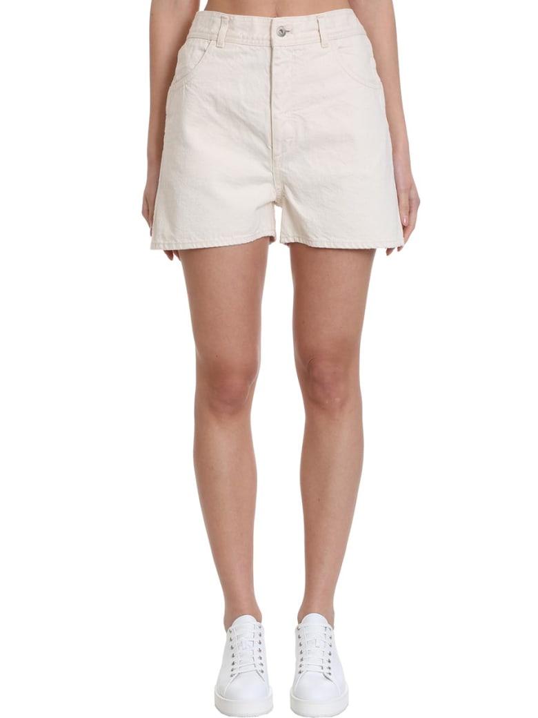 Jil Sander Workwear Shorts In Beige Denim - beige
