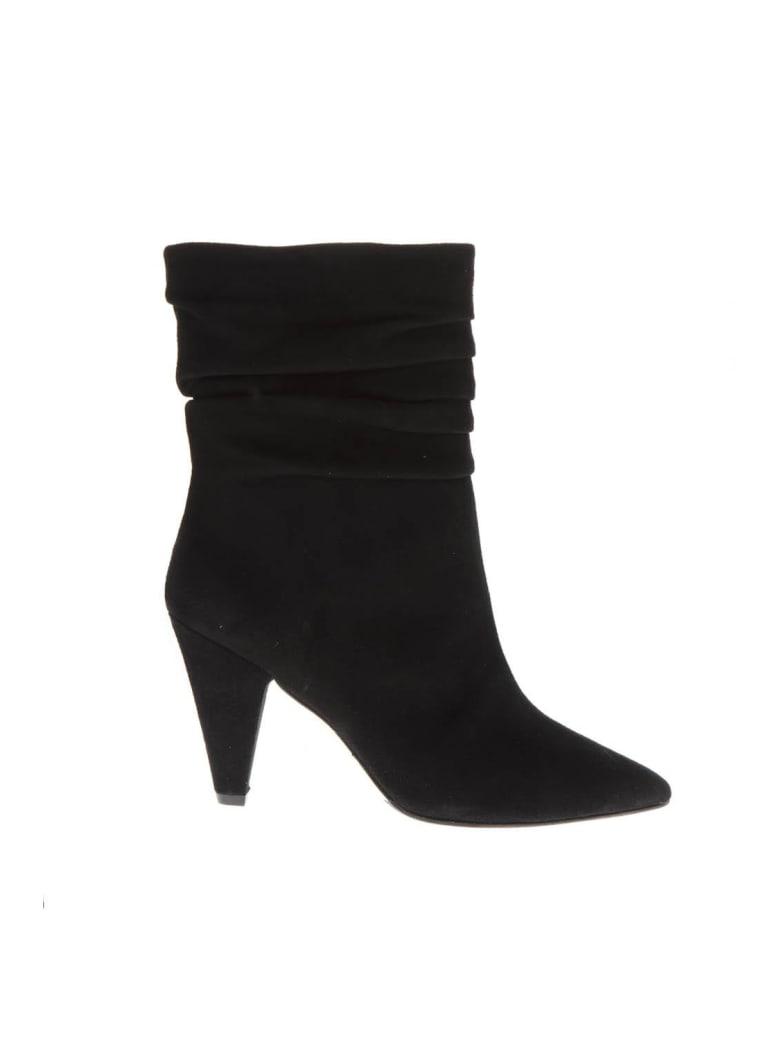 The Seller Black Suede Boots - Black