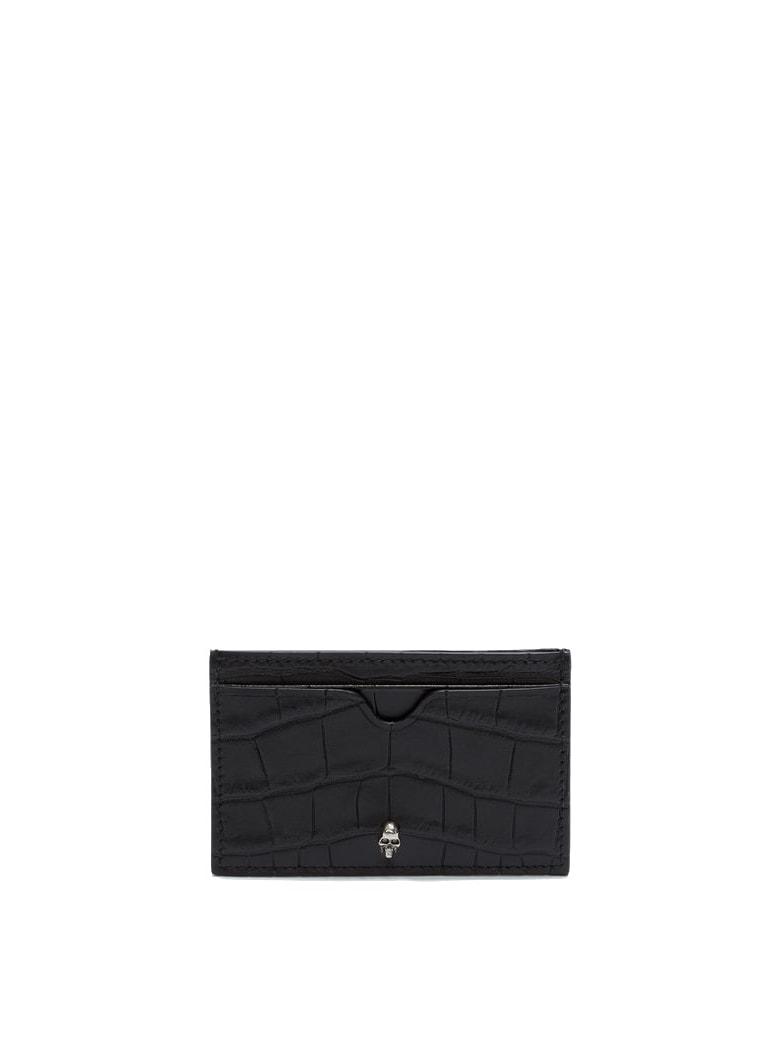 Alexander McQueen Croco Print - Black