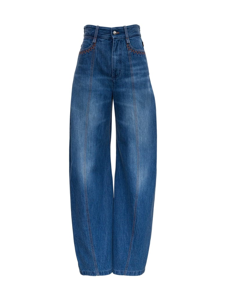 Chloé Cotton Denim Jeans - Blu