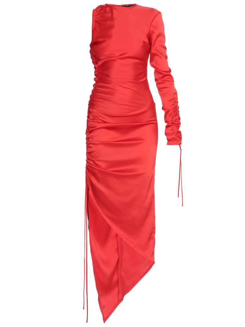 David Koma Satin Dress - RED