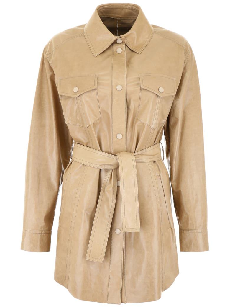 DROMe Leather Saharian Jacket - KAKI (Beige)