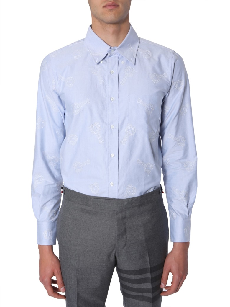 Thom Browne Embroidered Shirt - BLU