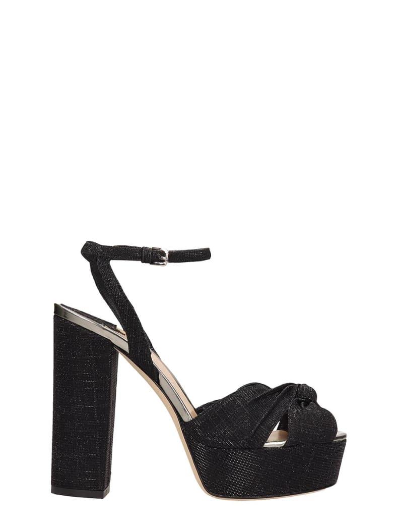 The Seller Black Canvas Sandals - black