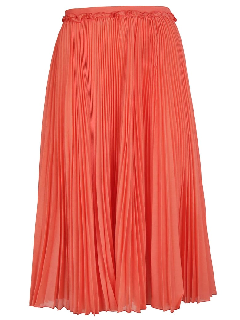 Rochas Pleated Skirt - Light red