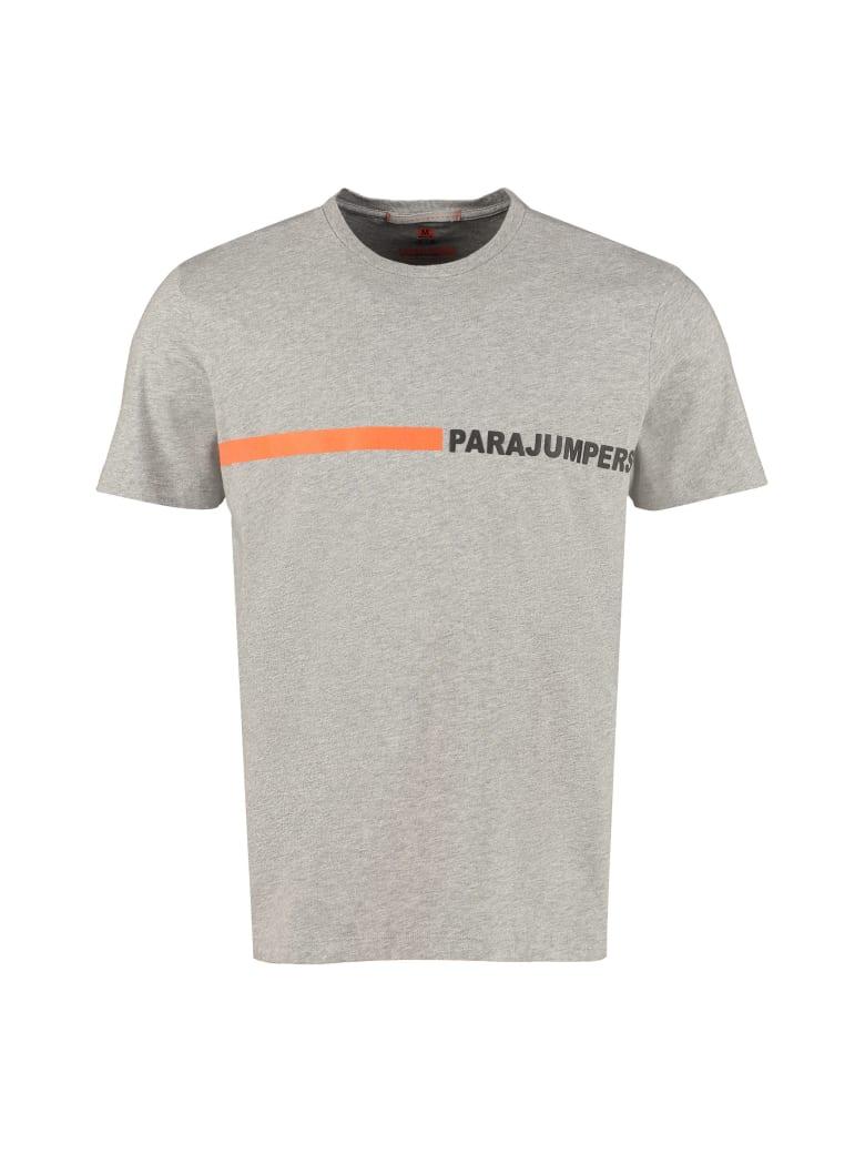 Parajumpers Logo Print Cotton T-shirt - grey