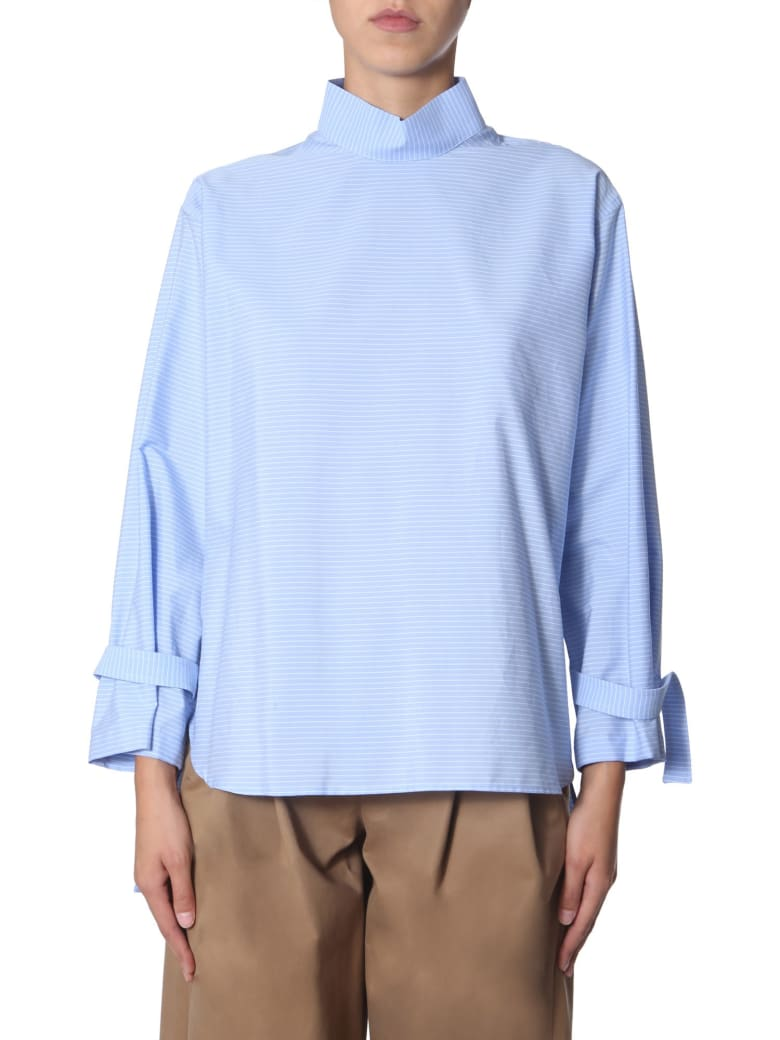 Jejia High Neck Shirt - CELESTE