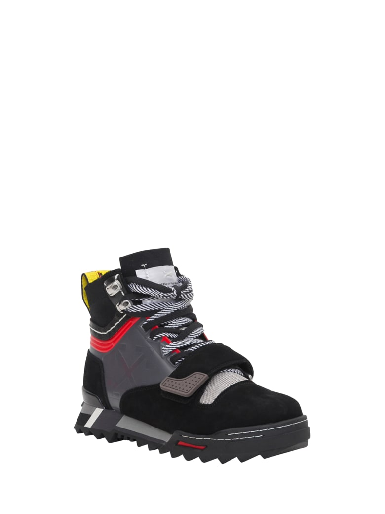 Off-White Panelled Arrows Logo Sneakers - Nero
