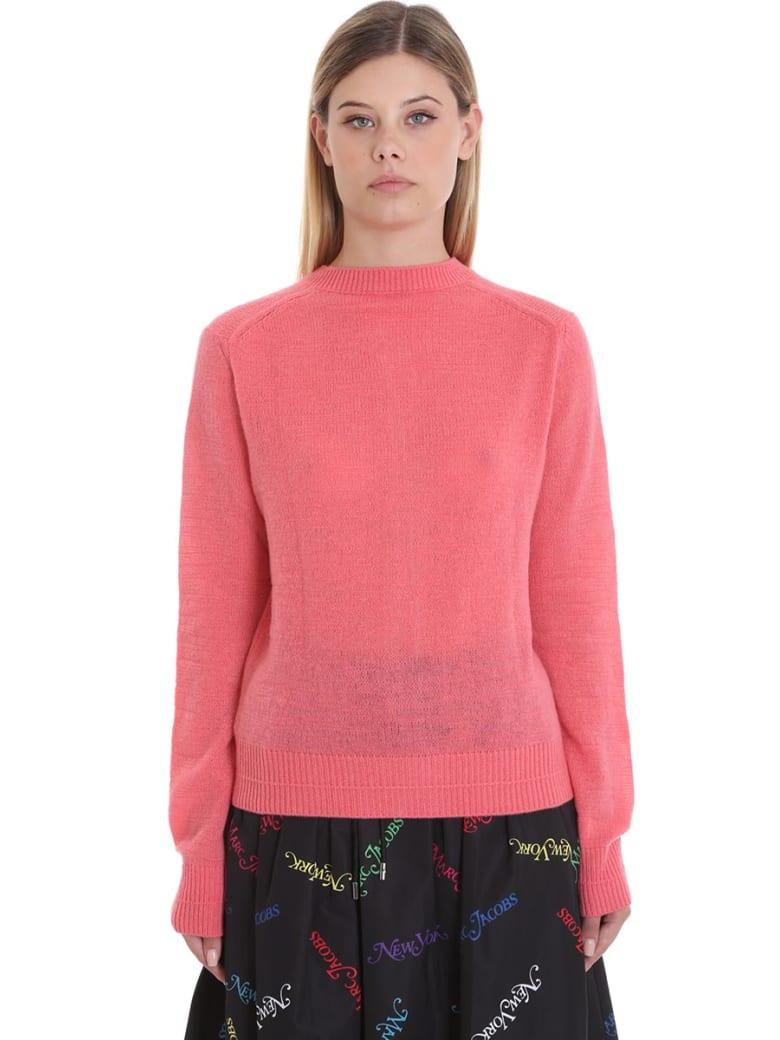 Marc Jacobs Cardigan In Rose-pink Wool - rose-pink