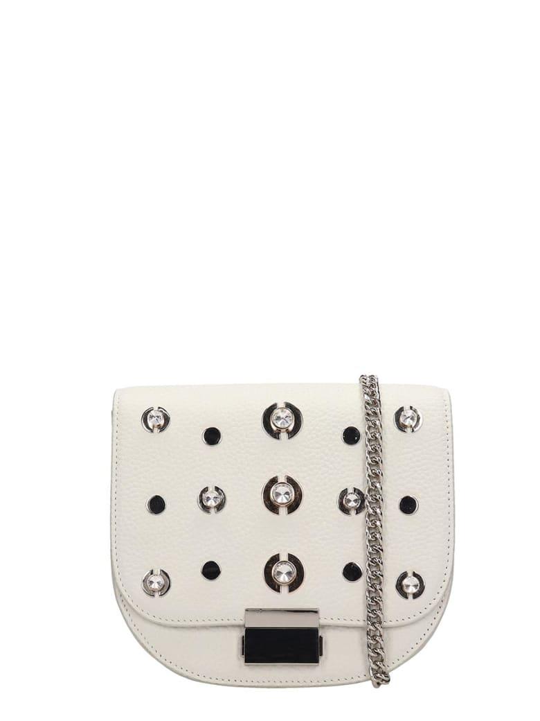Lola Cruz Guss White Leather Bag - white