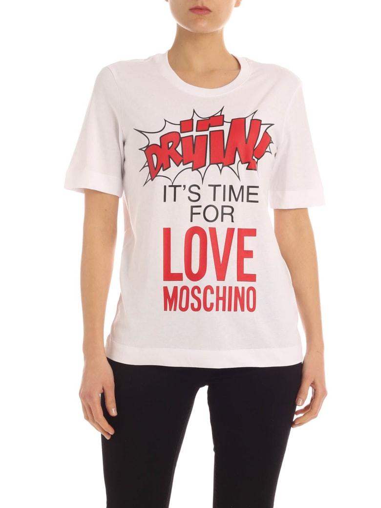 Love Moschino Impact Tee - Bianco