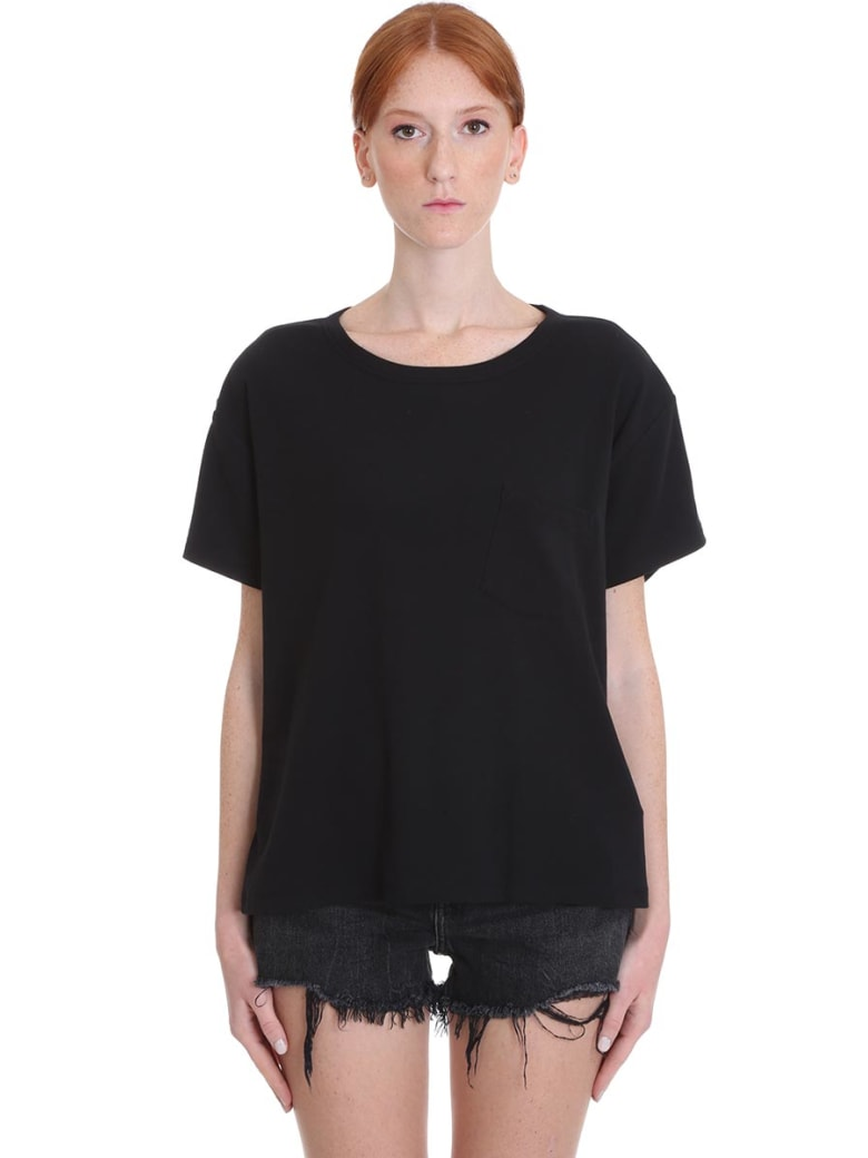 T by Alexander Wang T-shirt In Black Cotton - black