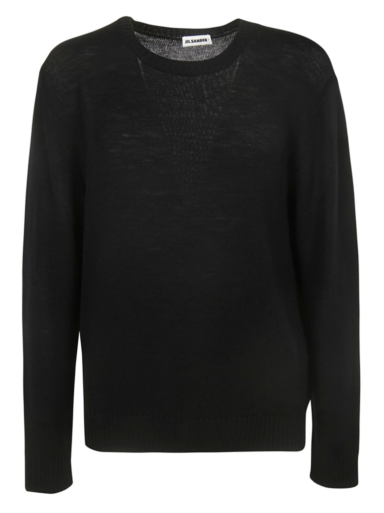 Jil Sander Crew Neck Sweater - Black