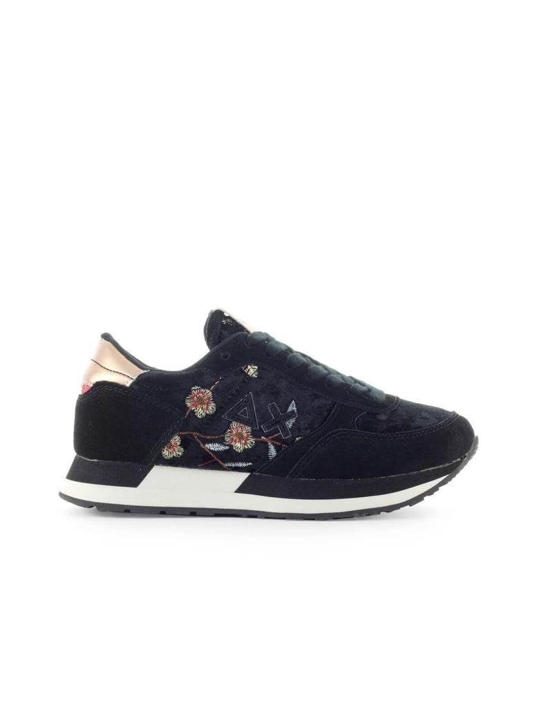 Sun 68 Sun68 Kate Velvet Flower Black Sneaker - Nero (Black)