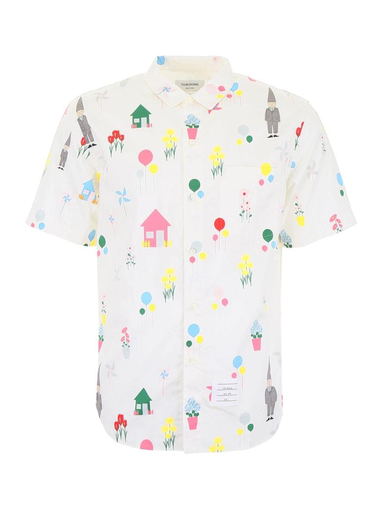 Thom Browne Gnome Print Shirt - WHITE (White)