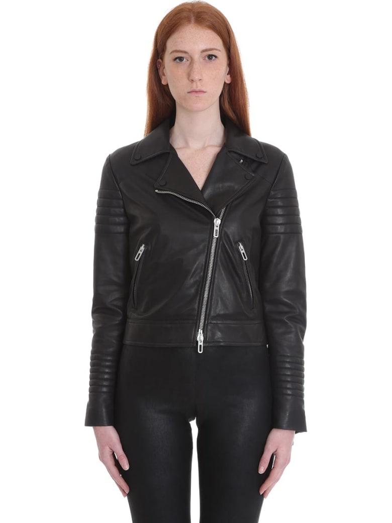 DROMe Leather Jacket In Black Leather - black